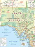 Kangaroo Island | South Australia | Australia map